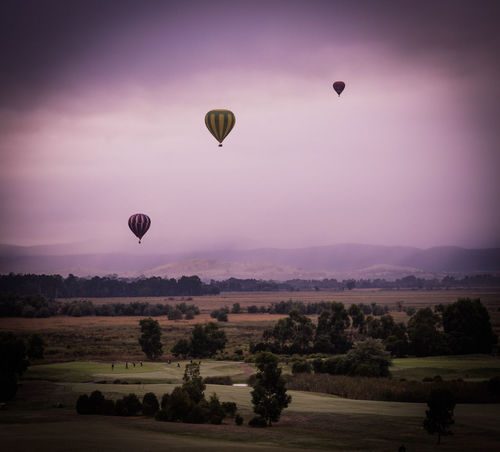Hotairballoons Yarra Valley Nature_collection Colours Full Frame ❤Australia❤ Landscape Lights And Shadows Sunrise Silhouette Balloons Ball