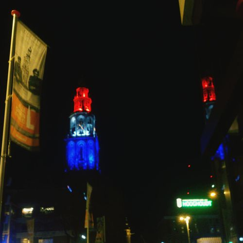 Martinitower On My Way Freedom National Colours Light-Play Red White Blue Flag