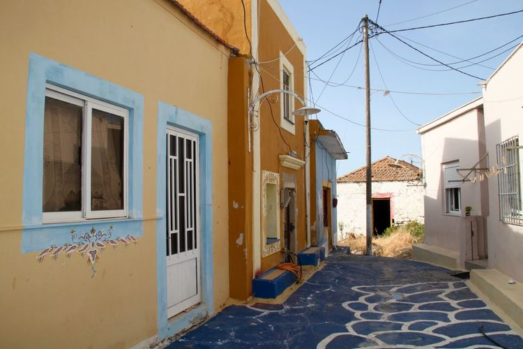 Architecture Building Exterior Built Structure Colorful Colorfull Houses Greece House Lachania No People Outdoors Painted Wall Residential Building Rhodes Ródos Town Paint The Town Yellow