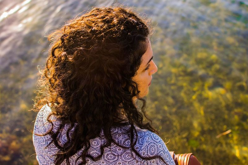 I love days my the sea ❤️ EyeEm Selects One Person Real People Long Hair Focus On Foreground Curly Hair EyeEmNewHere Outdoors Young Women Leisure Activity Women Beautiful Woman Close-up People EyeEmNewHere
