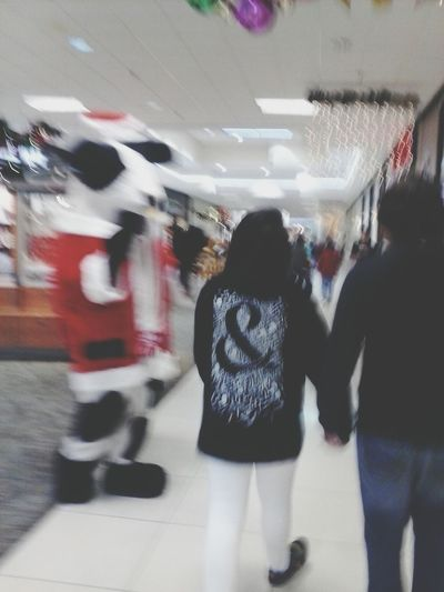 my daughter n her bf and chicfila cow christmas cow lol