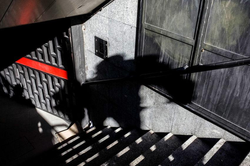EyeEm Best Shots Madrid Stairs TheWeekOnEyeEM City Focus On Shadow Shadow Street Photography Streetphotography Subway