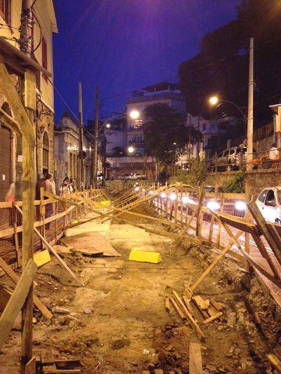 Obras do Bonde de Santa Teresa RJ Rio De Janeiro Rio Brasil Brazil Under Construction...