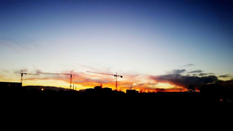 Sky Sunset Outdoors Nature City Night