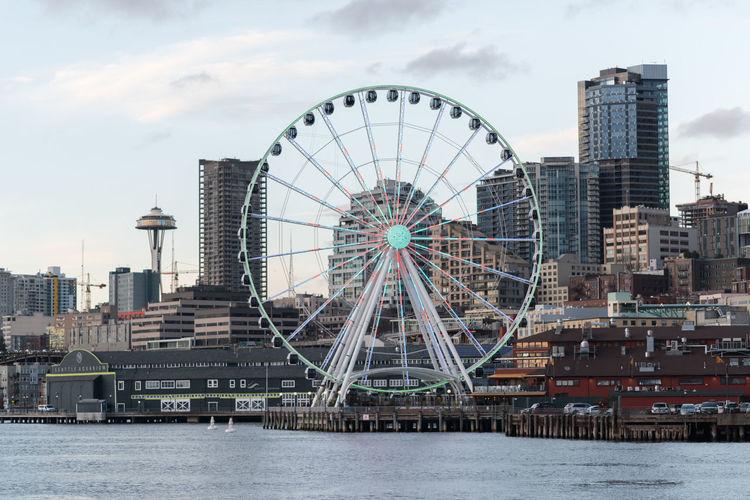 Elliott Bay Seattle Seattle Skyline Seattle, Washington Colour Your Horizn