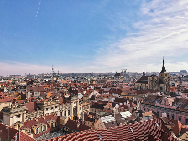 City view of Prague. Cityscape Skyline Architecture Building Building Exterior Built Structure City Community Lifestyles Residential District Roof Settlement TOWNSCAPE Urbanity The Traveler - 2018 EyeEm Awards The Traveler - 2018 EyeEm Awards