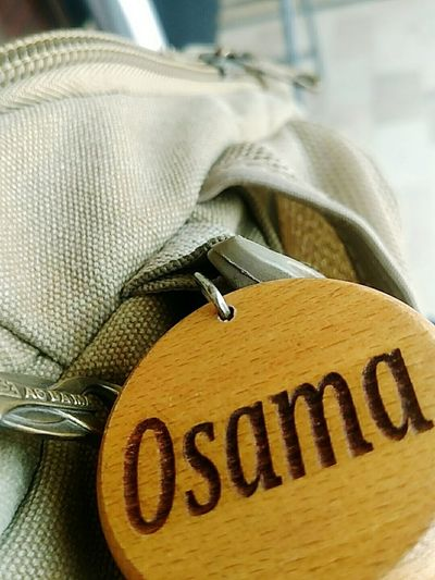 Number Close-up Sack No People Indoors  Day Name Design Nameplate Name Tag Name In Keychain Osama Usama First Eyeem Photo