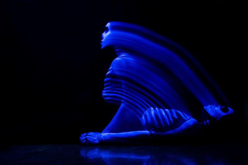 Fujifilm X-T1 UV Lights Black Background Body Paint Dark Neon Neon Makeup Skulls And Bones Studio Shot HUAWEI Photo Award: After Dark