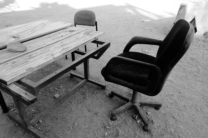 Street Photography Bw Photography Outdoor Office Outdoors Table Chair No People