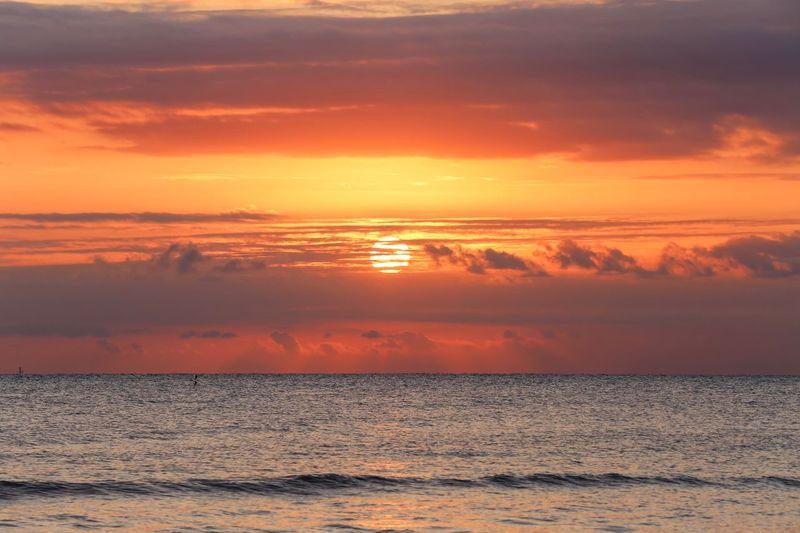 Sunset Sky Water Sea Beauty In Nature Scenics - Nature Orange Color Cloud - Sky Idyllic Waterfront No People Outdoors Horizon Beach Nature Horizon Over Water EyeEmNewHere
