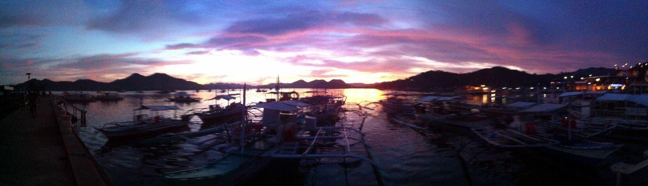 Coron Sunset Sunset Philippines Palawan Coron Nature