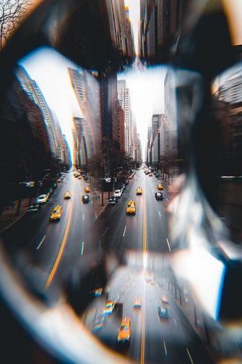 Traffic on road in city