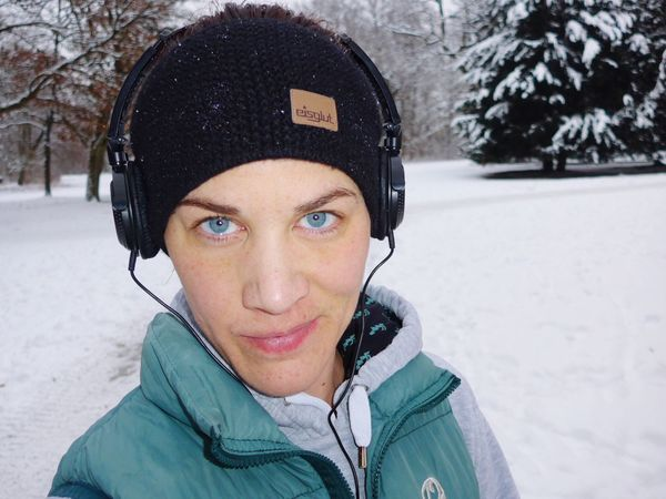 Looking At Camera Cold Temperature One Person Headphones
