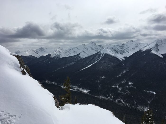 View of the Rockies Snow Winter Mountain Cold Temperature Weather Nature Landscape Sky Outdoors Scenics Beauty In Nature Day No People Range Banff National Park