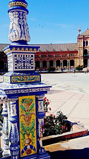 History Architecture Day Built Structure Outdoors Architectural Column Clear Sky Building Exterior SPAIN Seville Sevilla EyeEm Best Shots Art Art And Craft Arabic Influence Square Piazza