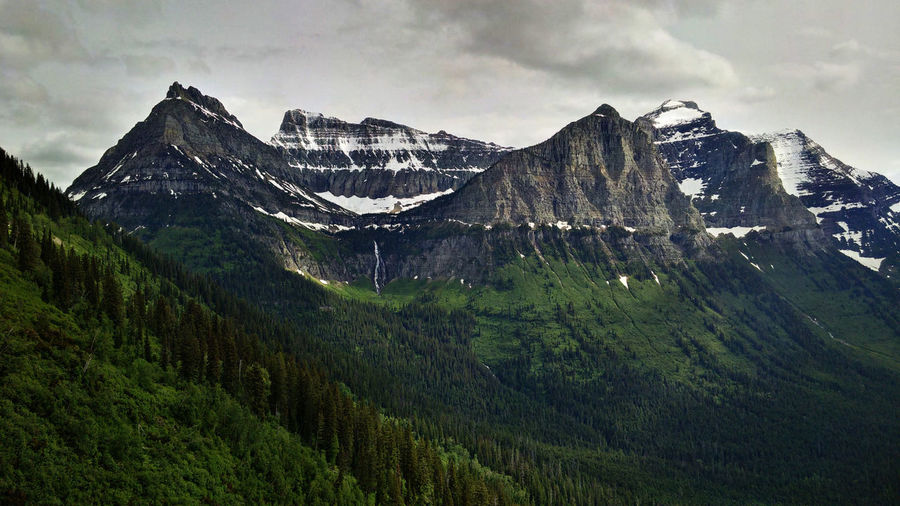 Glacier Glacier National Park Gnp Going To The Sun Road Montana Mountains Sky Valley