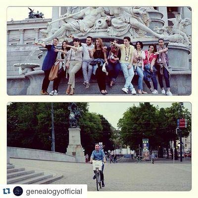 Repost @genealogyofficial ・・・ Meanwhile in Vienna :) 🚥🚲 Wait .. Is that @armengalyan 😄🇦🇹👍🏻 Armenia Eurovision ESC2015 genealogy buildingbridges facetheshadow esc2015
