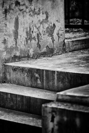 Steps No People Steps And Staircases Indoors  Close-up Day Built Structure Architecture Concrete Steps Man Made Structure Urban B&w Architectural Feature