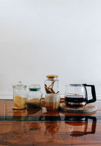 Started kit for morning begginners Cinnamon Clean Coffee Collection Cooking Copy Space Freshness Indoors  Large Group Of Objects Mug No People Shelf Still Life Sugar Table Various EyeEm Best Shots VSCO