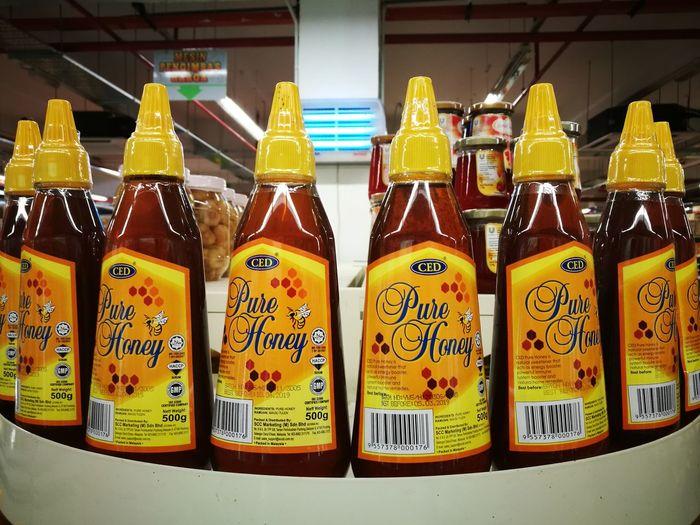 Pure honey Kelulut Honey Bee Honey Pure Honey In A Row No People Variation Indoors  Day Close-up Food Freshness