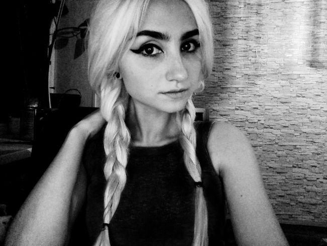 Blackandwhite Blonde ♡ Home Tumblrgirl Love