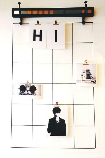 Cafe Wall Display Photographs Hanging Bangkok