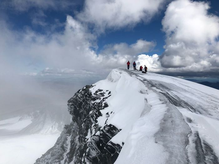 Glittertind Mountaineering Summer Cloud - Sky Sky White Color Mountain Scenics - Nature Nature Snowcapped Mountain