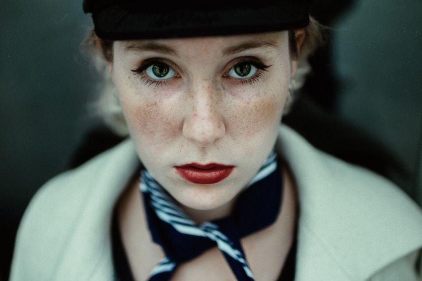 Beatiful France Lips Portrait Of A Woman Close-up Cute Eyes Frekles Front View Girl Headshot Looking At Camera Model Mood Photography Portrait Portrait Of A Friend Portrait Photography Shooting Stewardess Young Women The Portraitist - 2018 EyeEm Awards