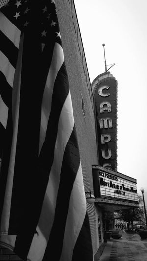 Architecture Building Exterior Built Structure Campus Theater Clear Sky Day Denton, Texas Low Angle View Marquee Theater Movie Theater No People Outdoors Sky Theater