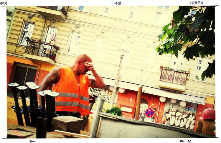 Streetphotography Working Hard Sommer