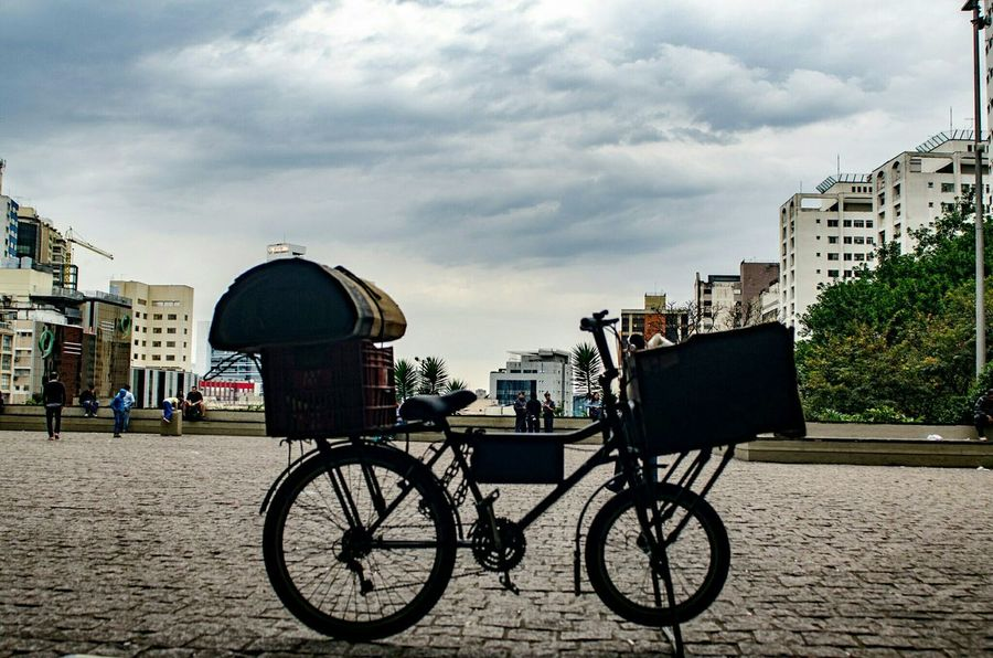Bicycle Land Vehicle Parking Place Setting Cloud - Sky Parked Outdoors Architecture Mode Of Transport Built Structure Stationary Sky City Cloud Cycle Bike Hippie Bikelife🚲