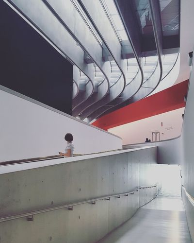 Architecture Composition Lines MAXXI Roma Red Accent Rome Architecture Art Museum Built Structure Contrast Geometry Indoors  Museum Zaha Hadid EyeEmNewHere