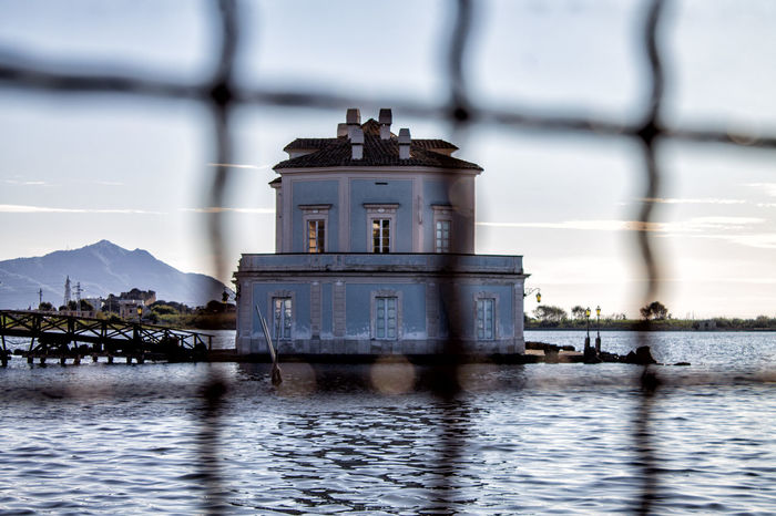 Lago del Fusaro Architecture Beauty In Nature Building Exterior Built Structure Casina Vanvitelliana Cloud - Sky Day Lago Fusaro Lighthouse Nature No People Outdoors Scenics Sea Sky Water Waterfront