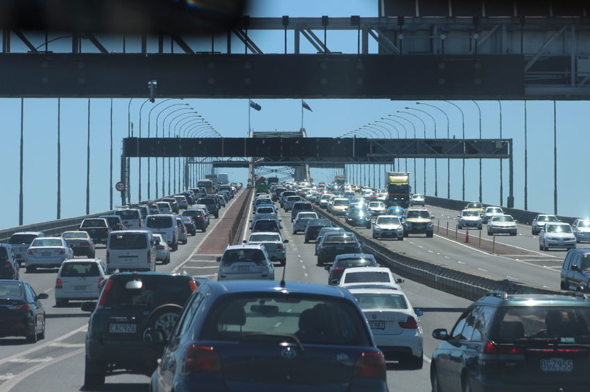 The Bridge Auckland Harbour Bridge Bridge Built Structure Capturing Movement Car City City Life Eye4photography  Ladyphotographerofthemonth Land Vehicle Mode Of Transport Moving On The Move On The Road Something Different Street Traffic Transportation Travel