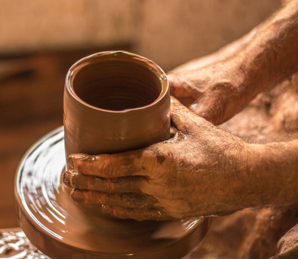 potters hands Clay Close-up Coffee - Drink Coffee Cup Day Drink Food Food And Drink Freshness Human Body Part Human Hand Indoors  Men Moulding One Person Potters Wheel Pottery Real People