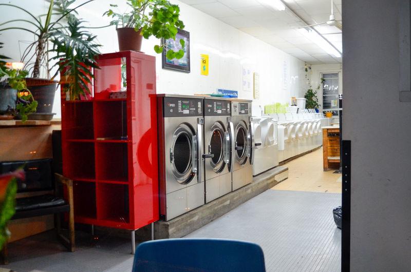 Laundromat Washing Machine Red Washing Domestic Life Convenience Machinery Dryer  Appliance Laundry Laundry Basket Cleaning Equipment