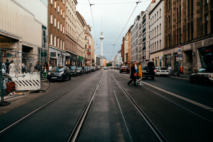 TV tower direction Afternoon City Life City Street Perspective Street Life Tram Urban Lifestyle Urban Geometry Berliner Ansichten Building Built Structure Car City City Life City Street Day Diminishing Perspective Direction Residential District Road Street Streetphotography The Way Forward Track Urban