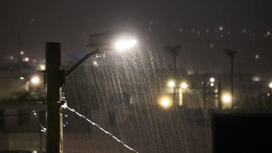 Pouring rain vs