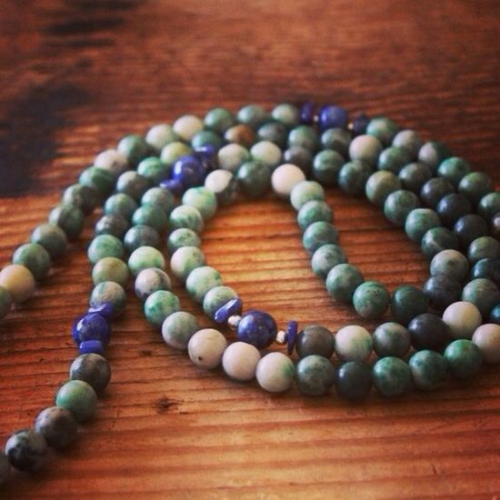 Jade Lapis Necklace Mala