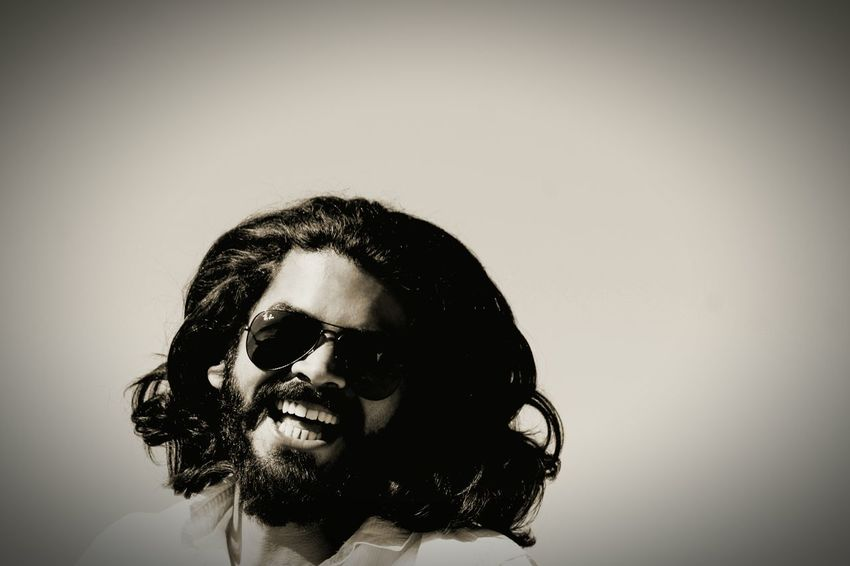 Beardlife Headshot Young Adult One Person Human Face Front View Happiness Smiling Sky Looking At Camera Fun Day Portrait Ebony And Ivory Sepia Black Hair One Man Only Black And White Friday