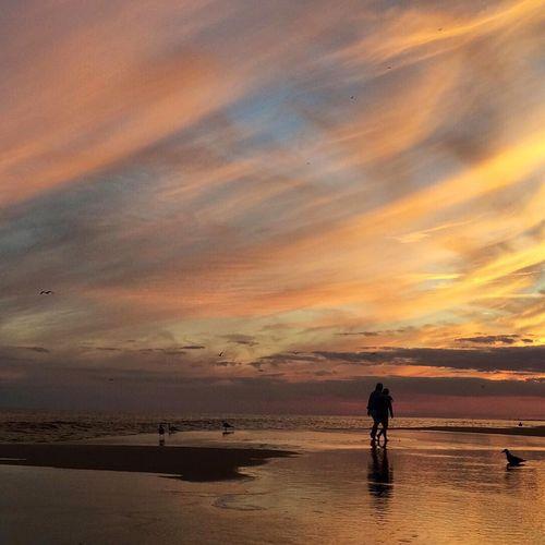 Sunset At Long Beach, NY Sunset Silhouettes Beautiful Sky EyeEm Best Shots
