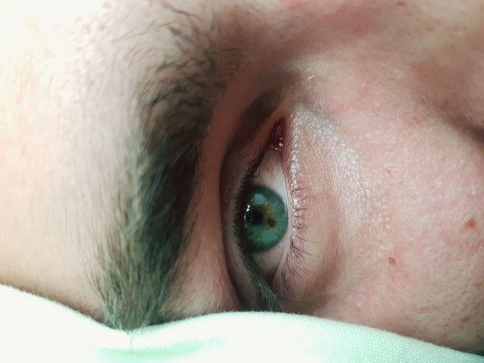 Cropped Eye Of Man