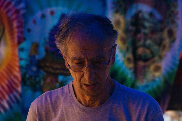 LAAF Festival in Asheville North Carolina One Person Focus On Foreground Headshot Hippie Tiedye Tyedye Elderly Grateful Dead Colors