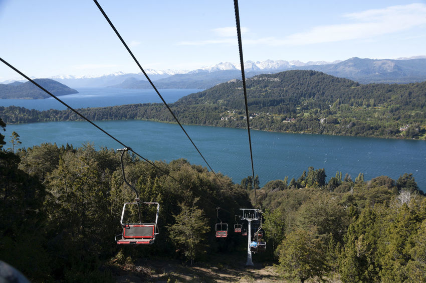 Cerro Campanario Chairlift. Descent. Bariloche, Patagonia Argentina. Lake Los Andes Lago Nahuel Huapi Nahuel Huapi Lake Lake Descent Chairlift Bariloche Argentina Patagonia Argentina Patagonia Nahuel Huapi Nahuel Huapi Lake Panoramic View Argentina Bariloche Day Panoramic Point Patagonia Patagonia Argentina Sky Transportation Mountain Tree Outdoors Mode Of Transport Nature Overhead Cable Car