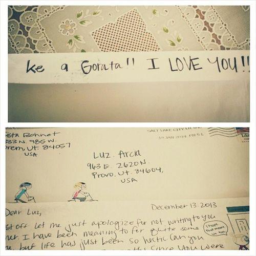 Missionary letter :) Yayimsoexcited Halfacrosstheworldletter Loveherandmissher Sisbohnet bestfriendsforlife ldsmission 14monthstogo :)
