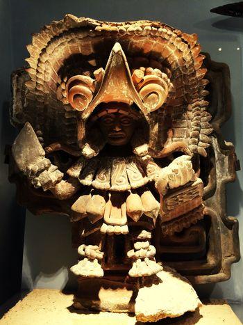 Archeology Mexico Archeology Tlaxcala Tlaxcalteca Warrior Guerrero Tlaxcalteca Clay Sculpture Sculpture