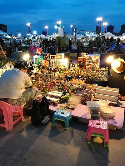 Mali Market Illuminated Market Large Group Of People Real People Night Men Market Stall Food Women Retail  Outdoors City Sky People Adult