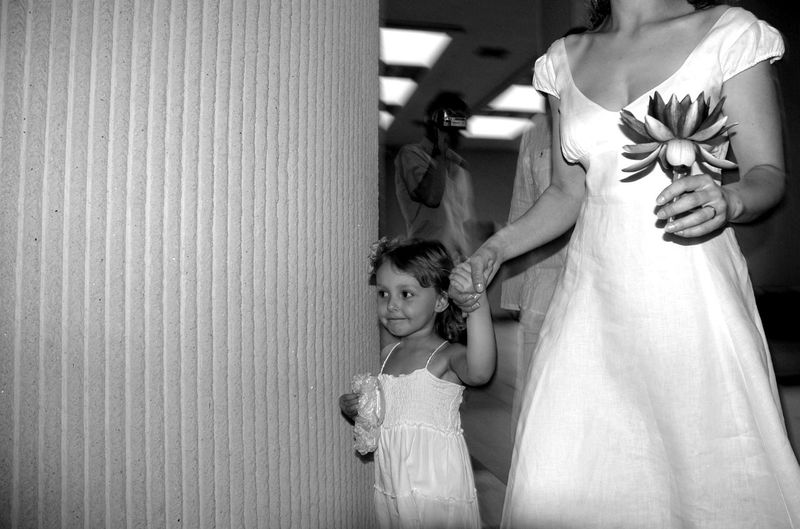 Mother With Daughter On Wedding