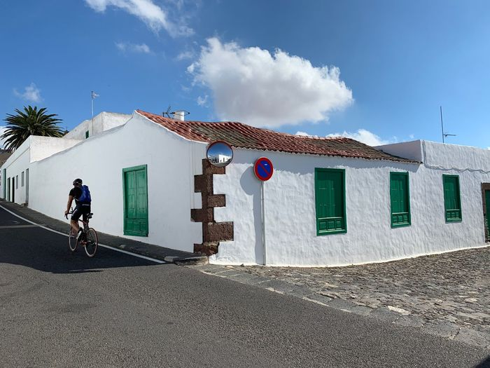 Teguise Lanzarote Lanzarote Island Canary Islands Sky Built Structure Architecture Building Exterior Nature Day Cloud - Sky Real People Sunlight Building Street Sport Lifestyles Men City