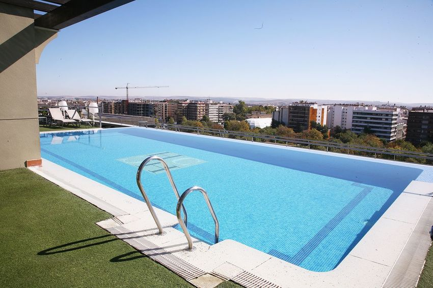 Water Swimming Pool Day Outdoors Architecture Built Structure Shadow Clear Sky Sky No People Building Exterior